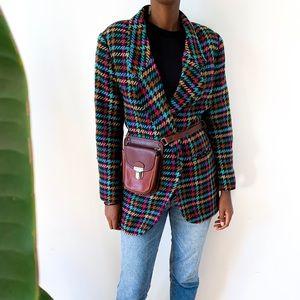 Jackets & Blazers - Multicolore Houndstooth Blazer